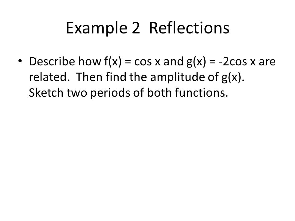 Example 2 Reflections