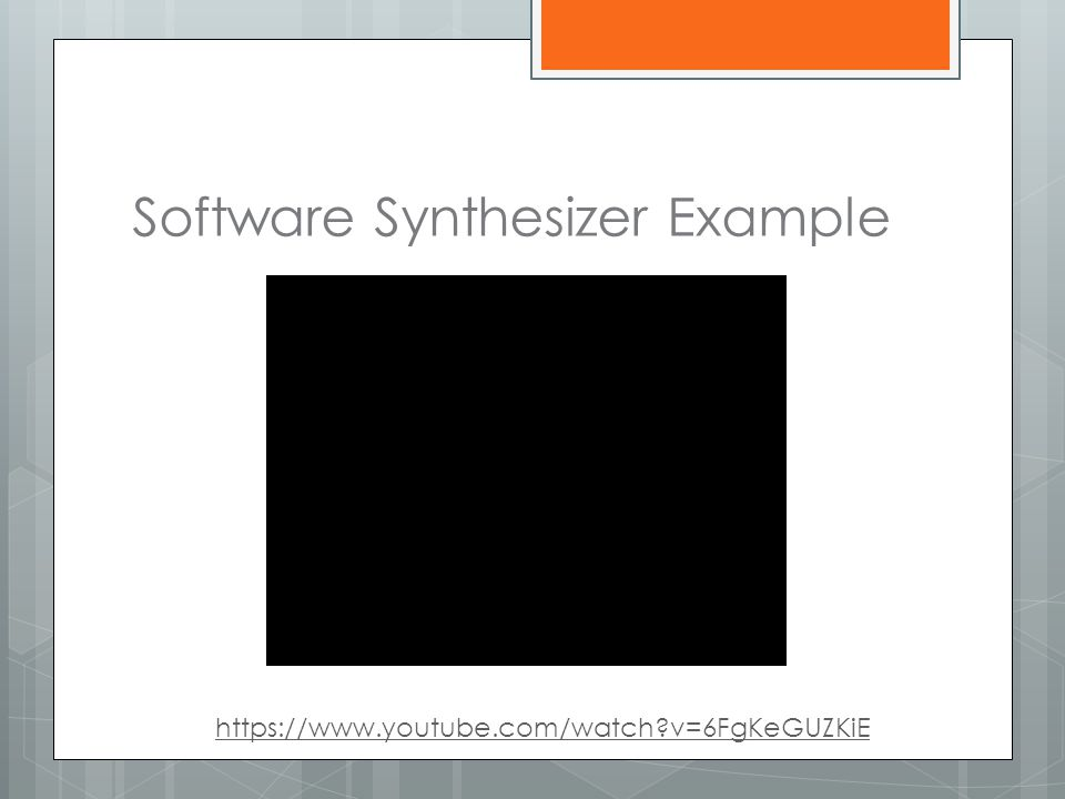 Software Synthesizer Example