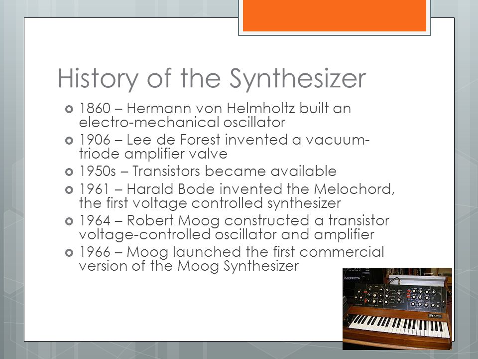 History of the Synthesizer