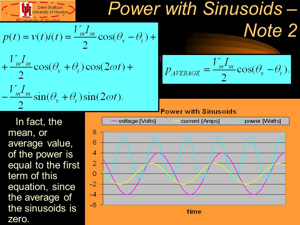 Power with Sinusoids – Note 2