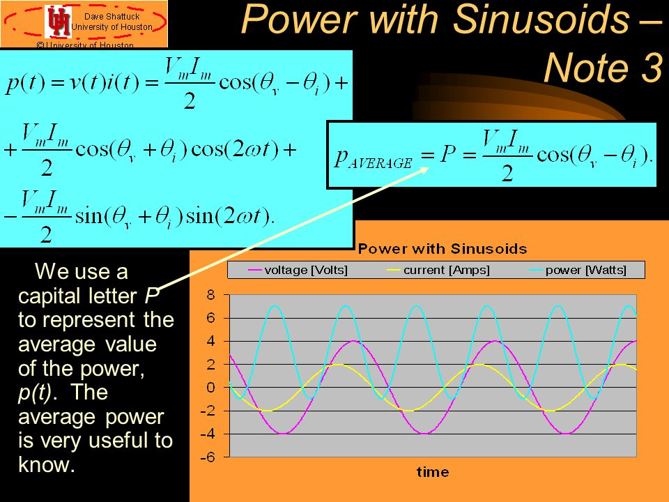 Power with Sinusoids – Note 3