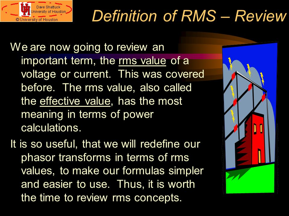 Definition of RMS – Review