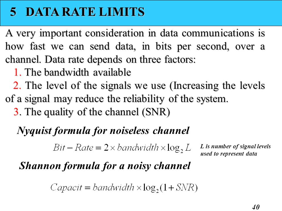 5 DATA RATE LIMITS