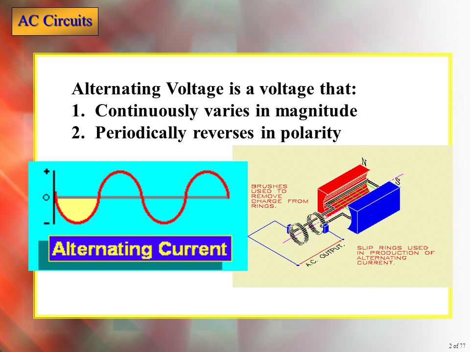 Alternating Voltage is a voltage that: