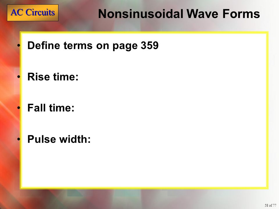 Nonsinusoidal Wave Forms