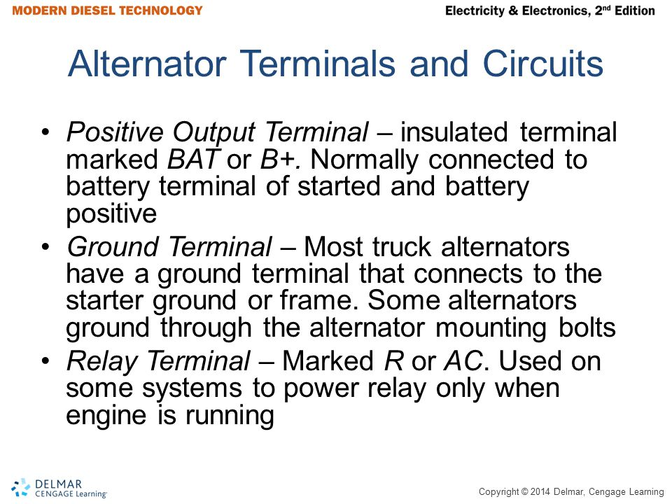 Alternator Terminals and Circuits