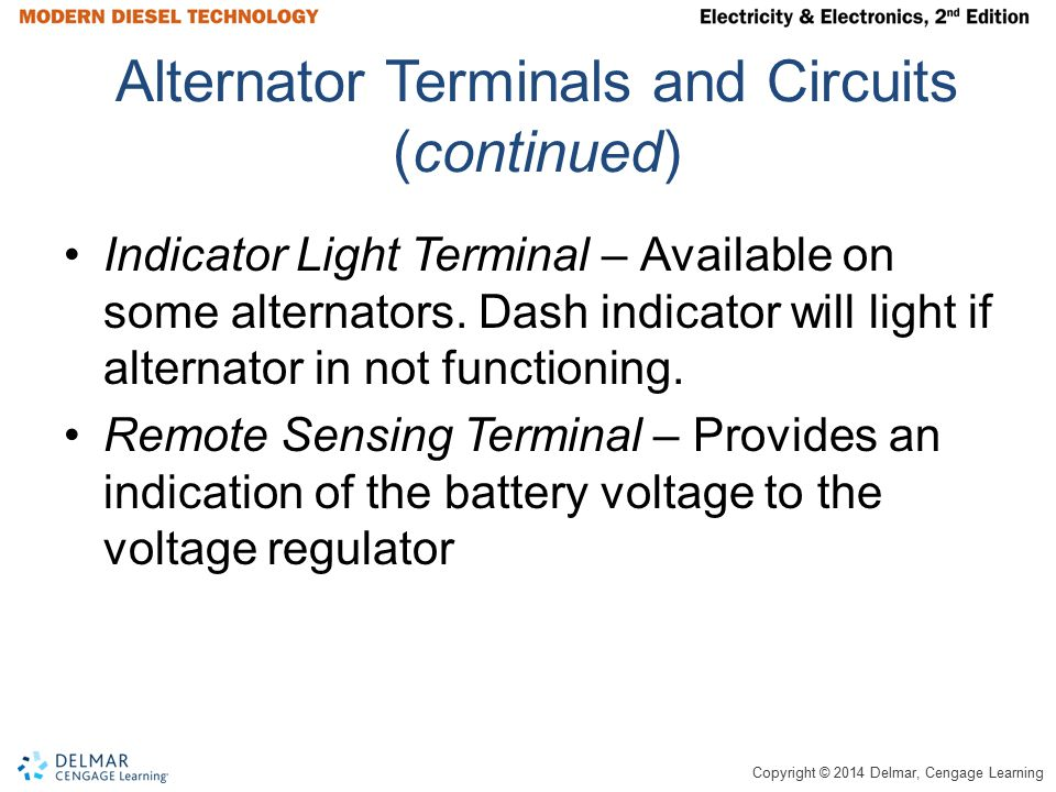 Alternator Terminals and Circuits (continued)