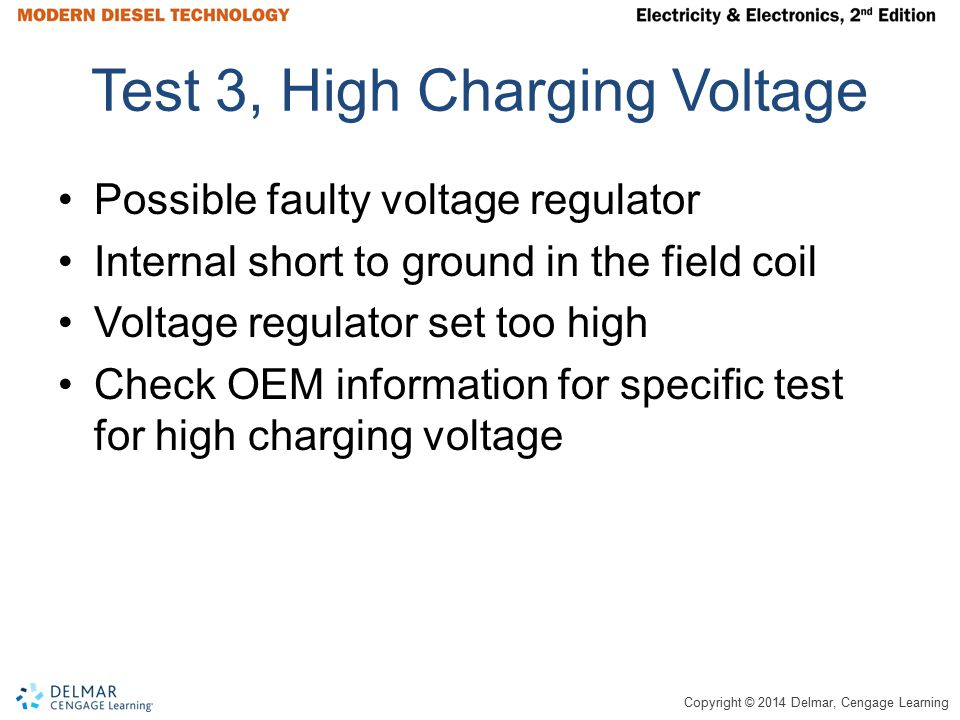 Test 3, High Charging Voltage