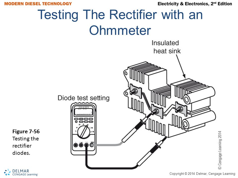 Testing The Rectifier with an Ohmmeter
