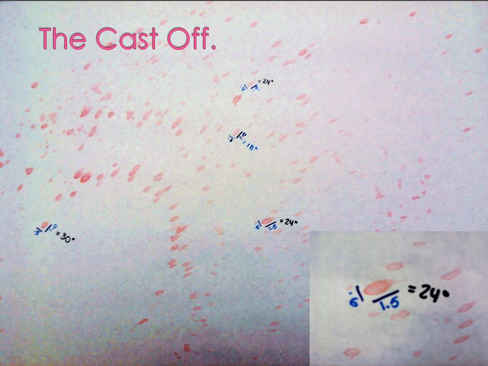 The Cast Off.