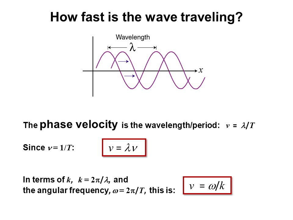 How fast is the wave traveling