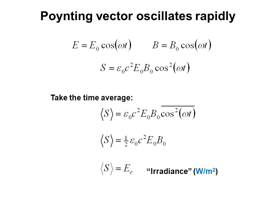 Poynting vector oscillates rapidly