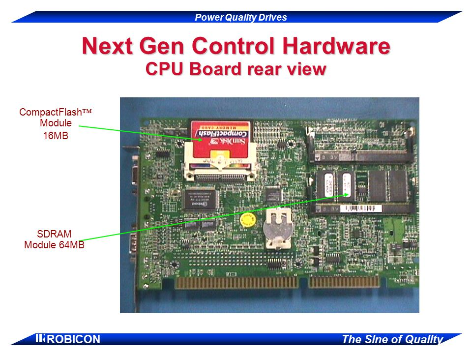 Next Gen Control Hardware CPU Board rear view