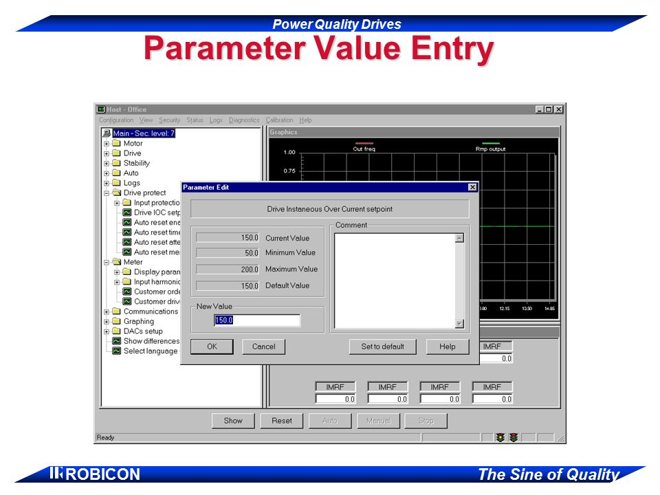 Parameter Value Entry