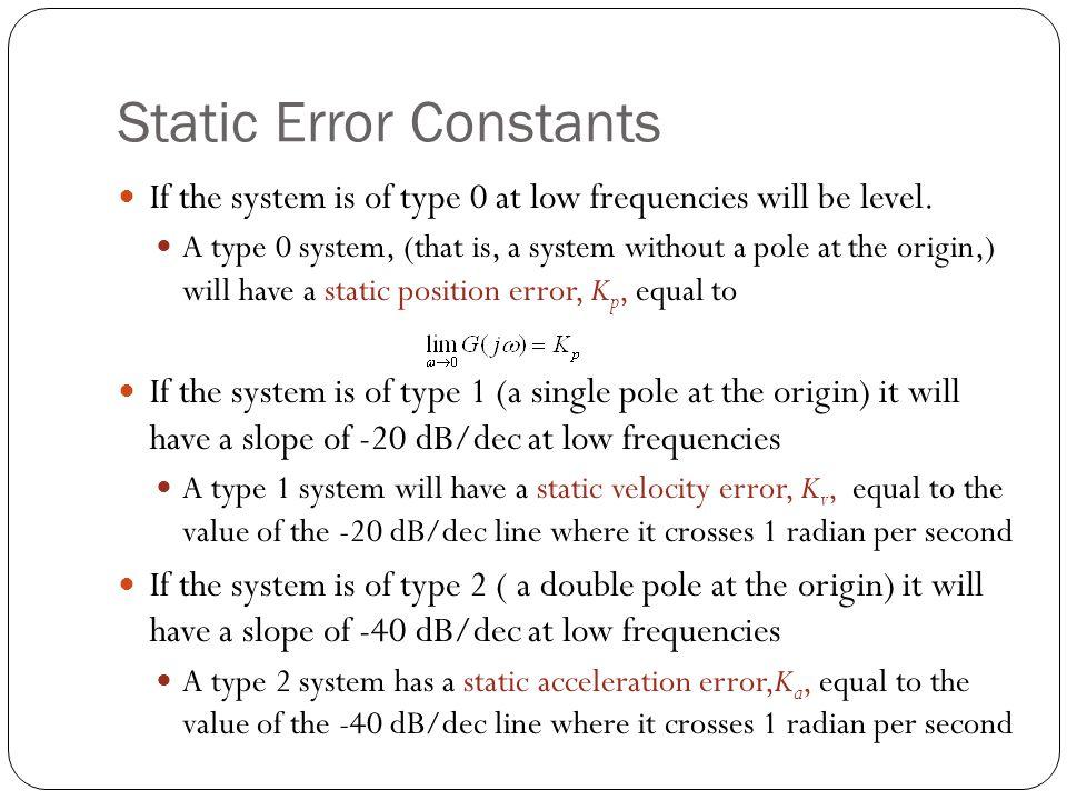 Static Error Constants
