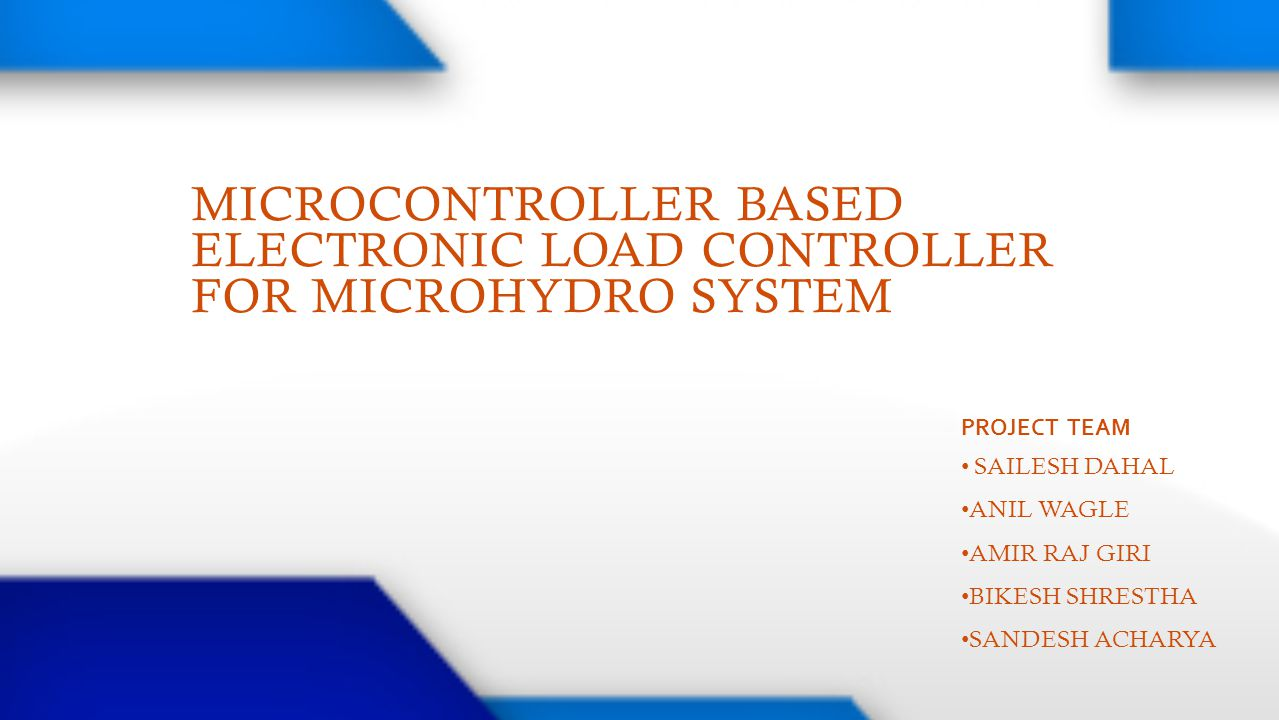 MICROCONTROLLER BASED ELECTRONIC LOAD CONTROLLER FOR MICROHYDRO SYSTEM