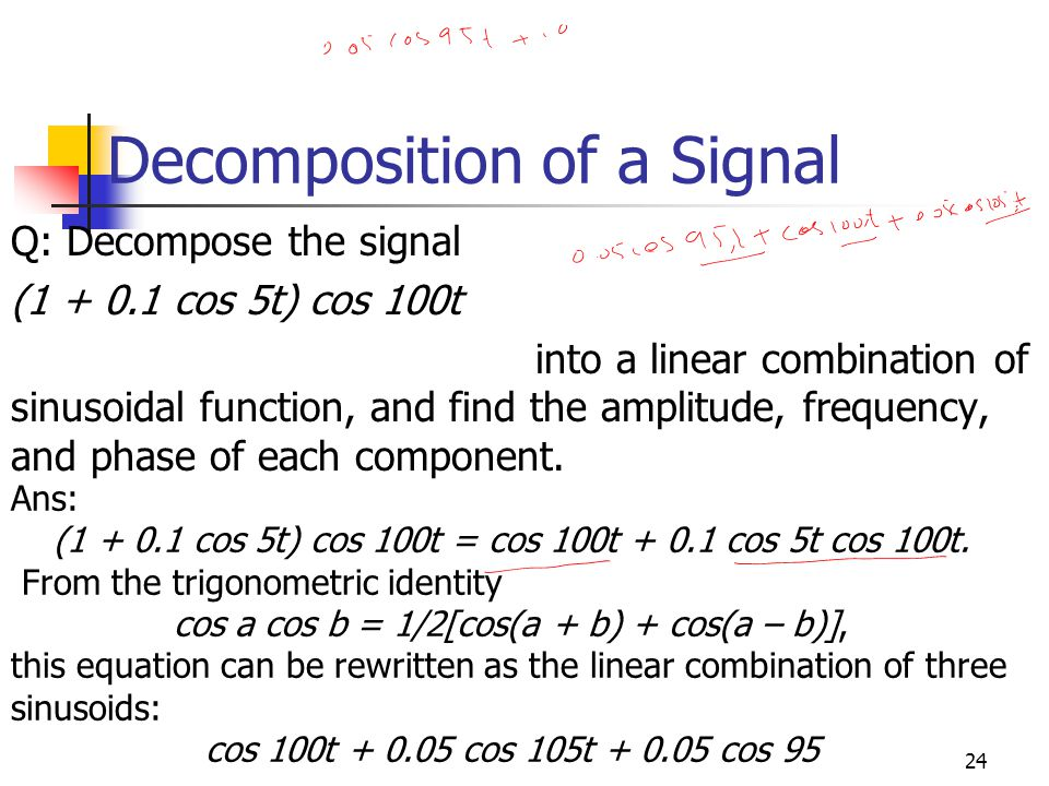 Decomposition of a Signal