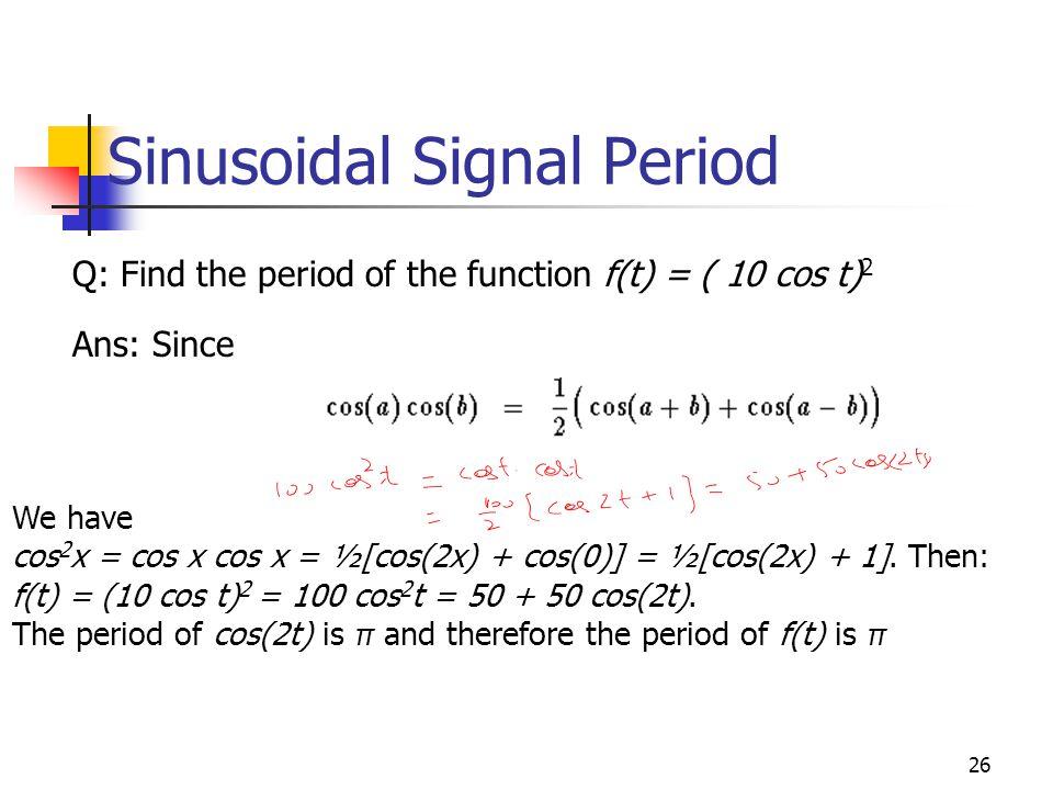 Sinusoidal Signal Period