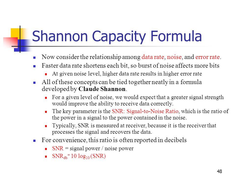 Shannon Capacity Formula