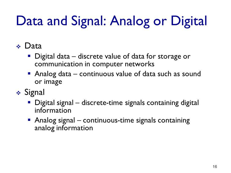 Data and Signal: Analog or Digital