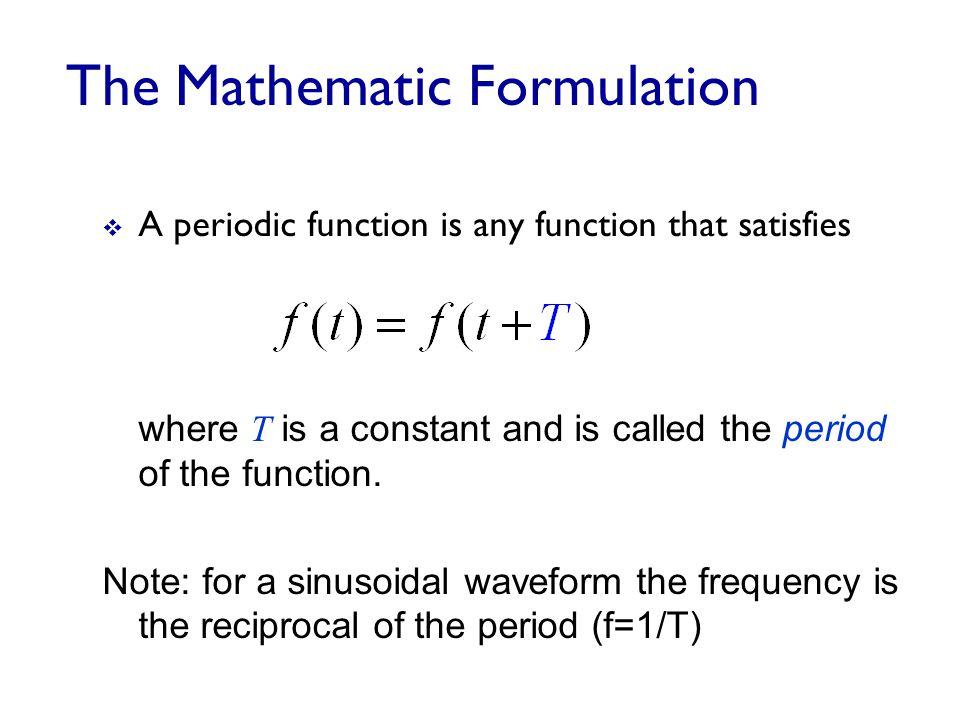 The Mathematic Formulation