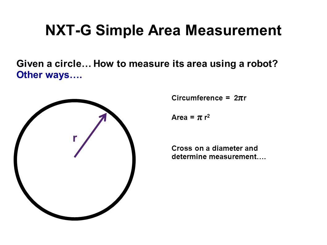 NXT-G Simple Area Measurement