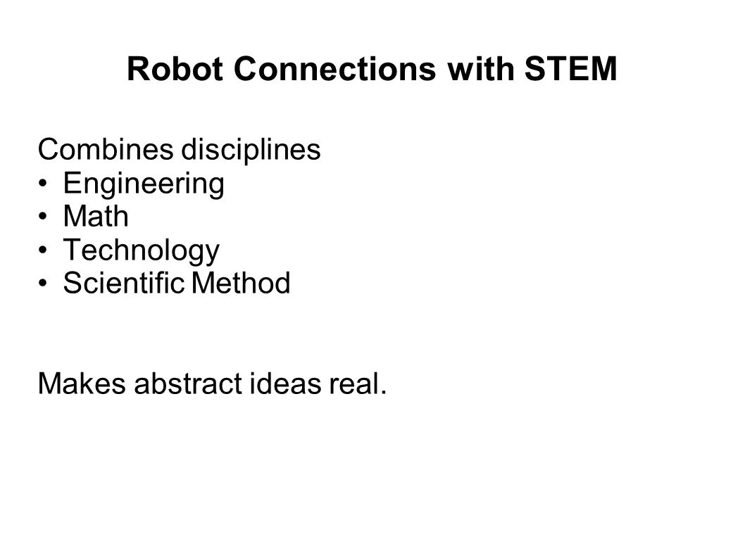 Robot Connections with STEM