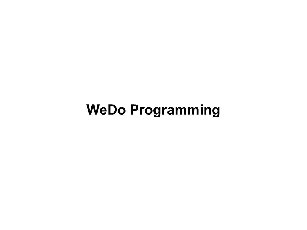 WeDo Programming