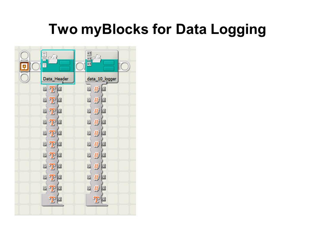 Two myBlocks for Data Logging