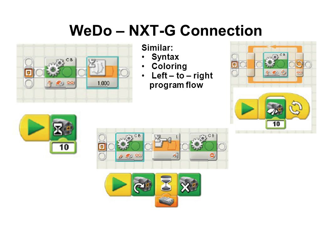 WeDo – NXT-G Connection