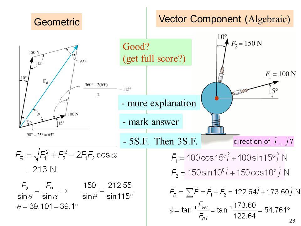 Vector Component (Algebraic)