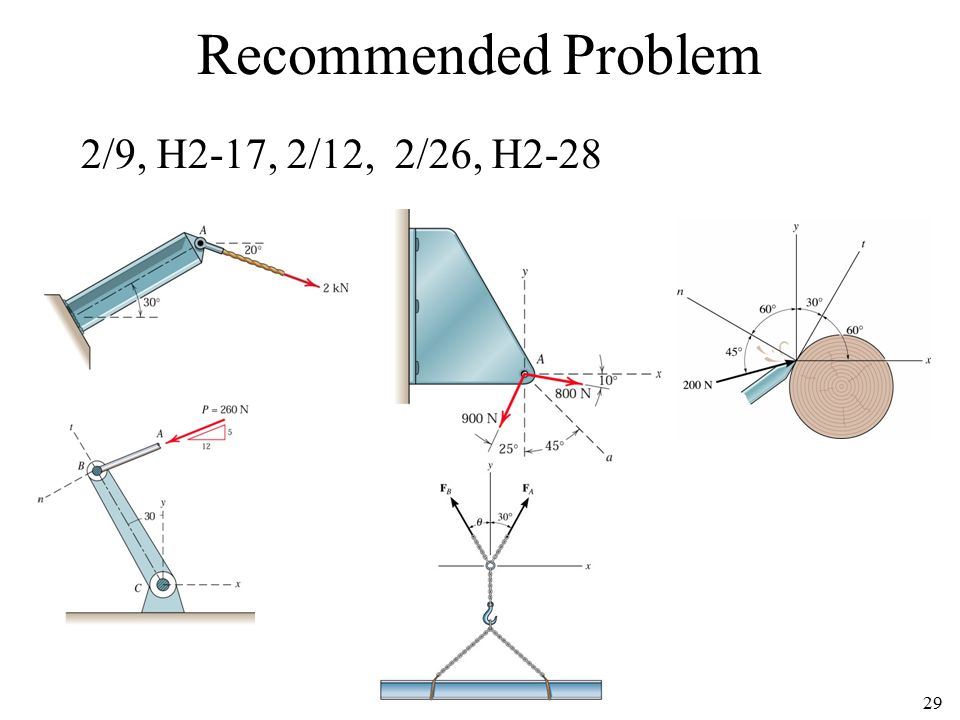 Recommended Problem 2/9, H2-17, 2/12, 2/26, H2-28