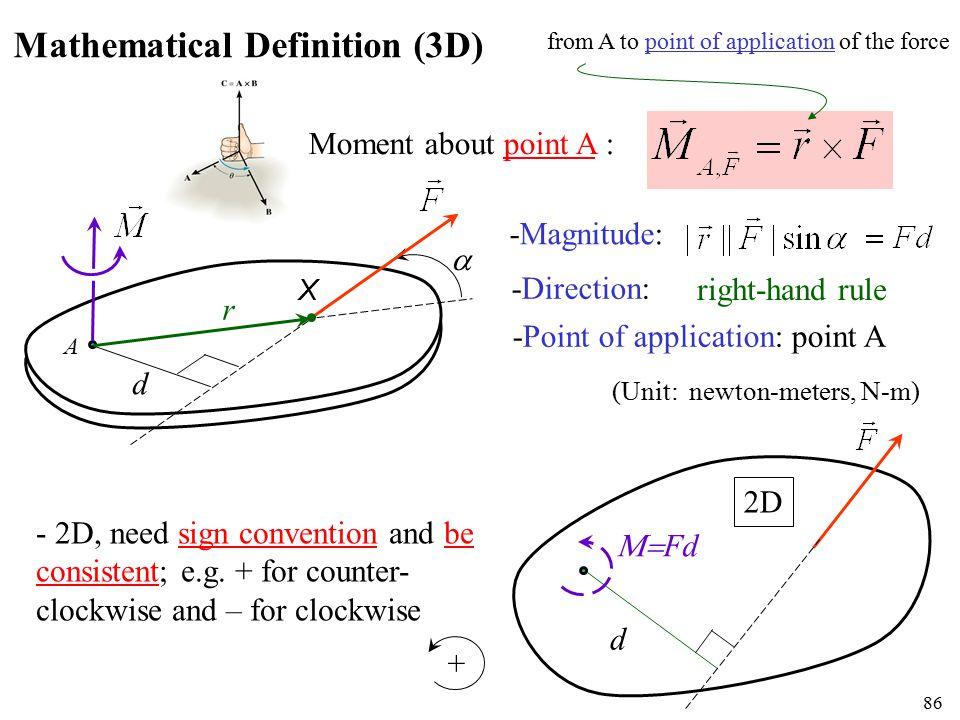 Mathematical Definition (3D)