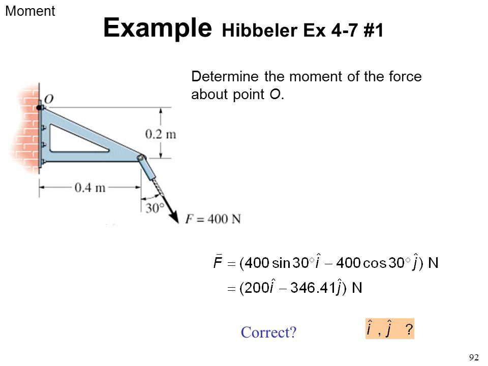 Example Hibbeler Ex 4-7 #1 Correct