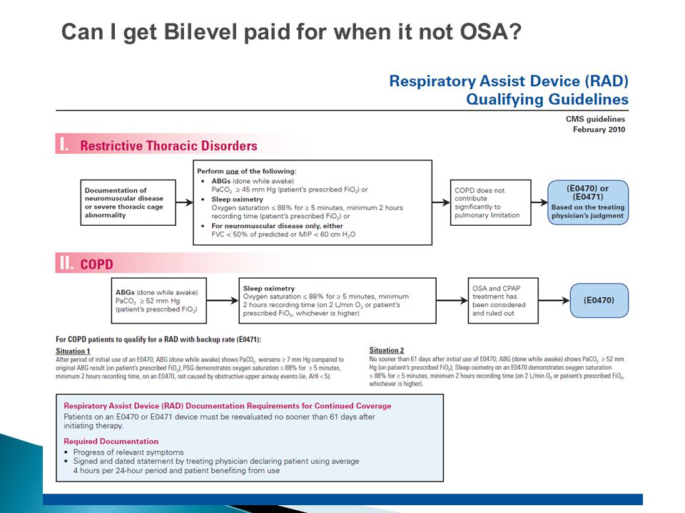 Can I get Bilevel paid for when it not OSA