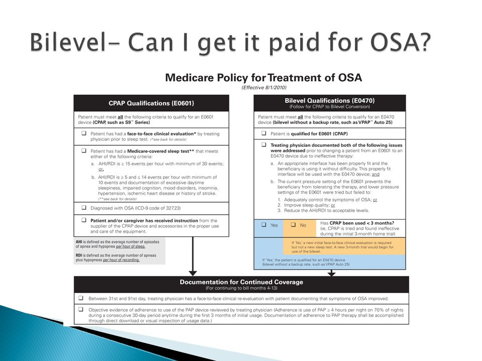 Bilevel- Can I get it paid for OSA
