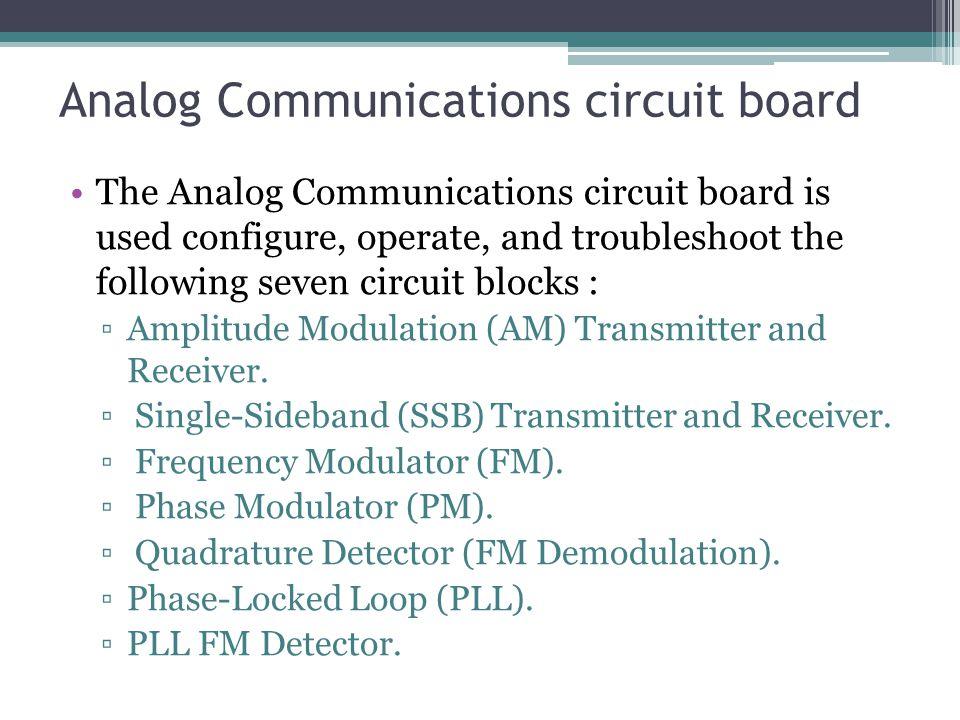 Analog Communications circuit board