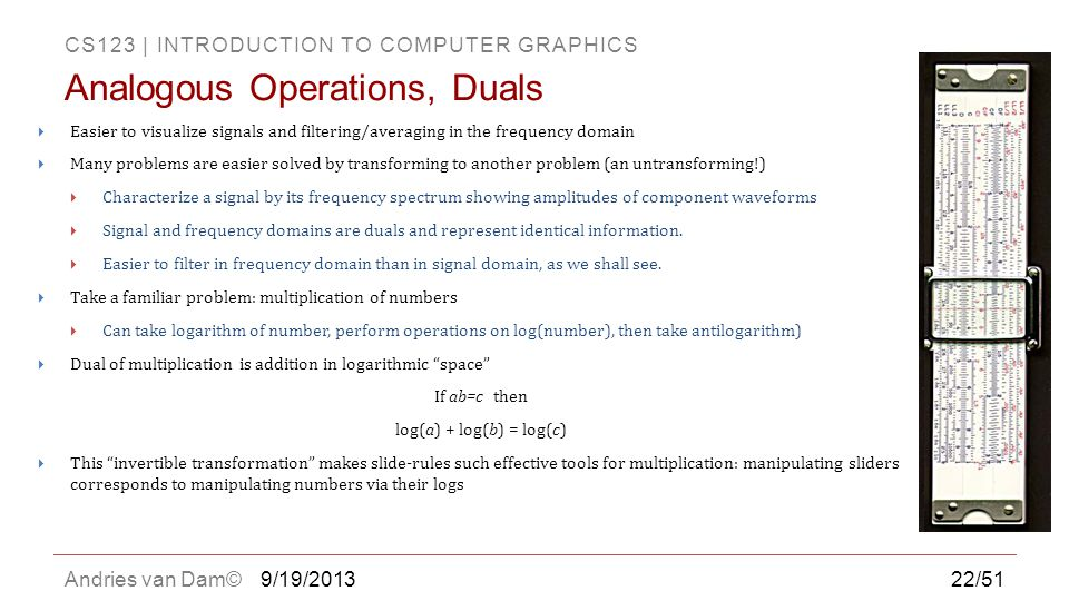 Analogous Operations, Duals