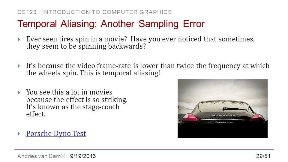 Temporal Aliasing: Another Sampling Error