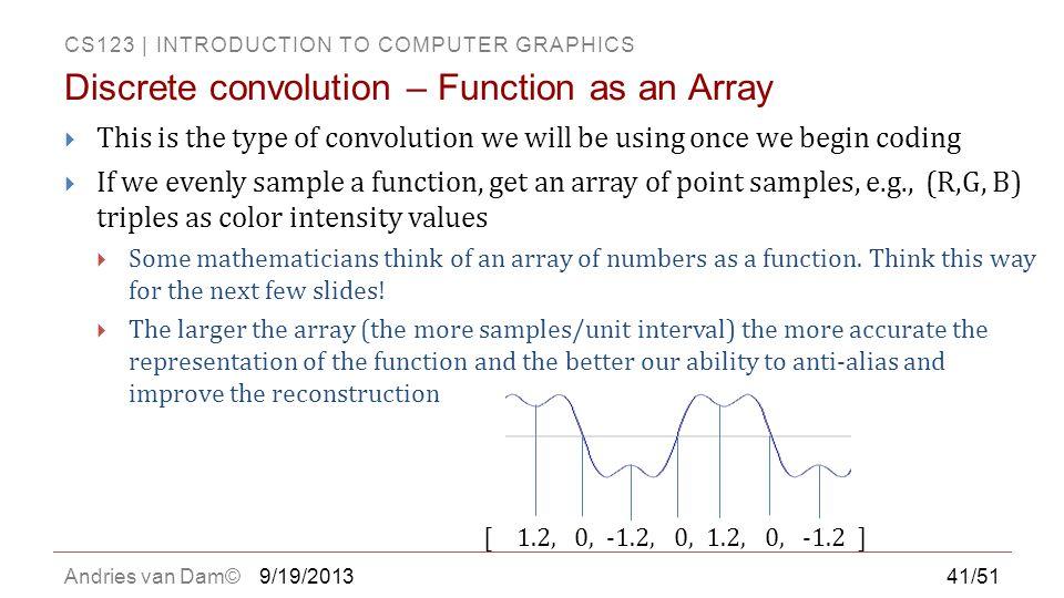 Discrete convolution – Function as an Array