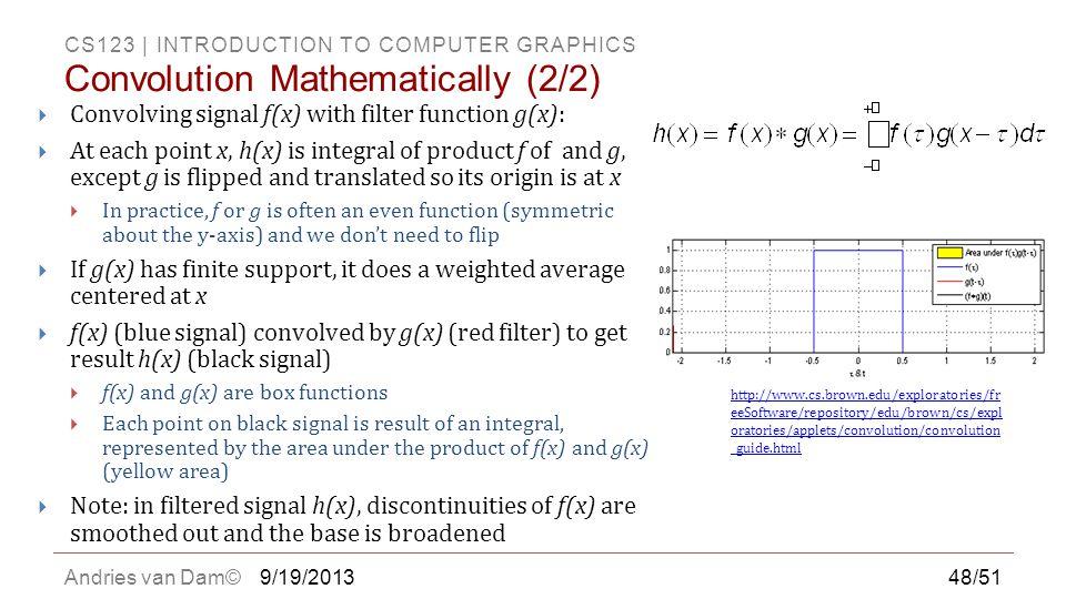 Convolution Mathematically (2/2)