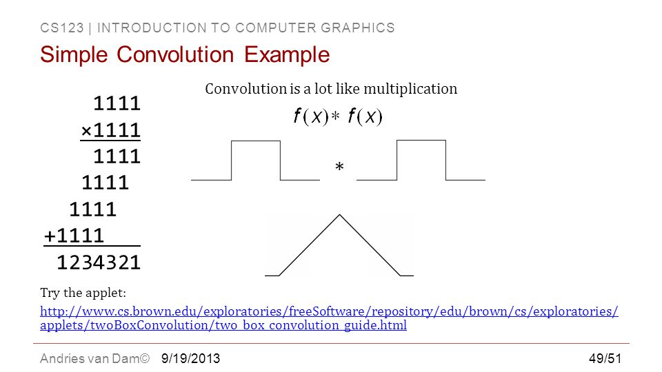 Simple Convolution Example