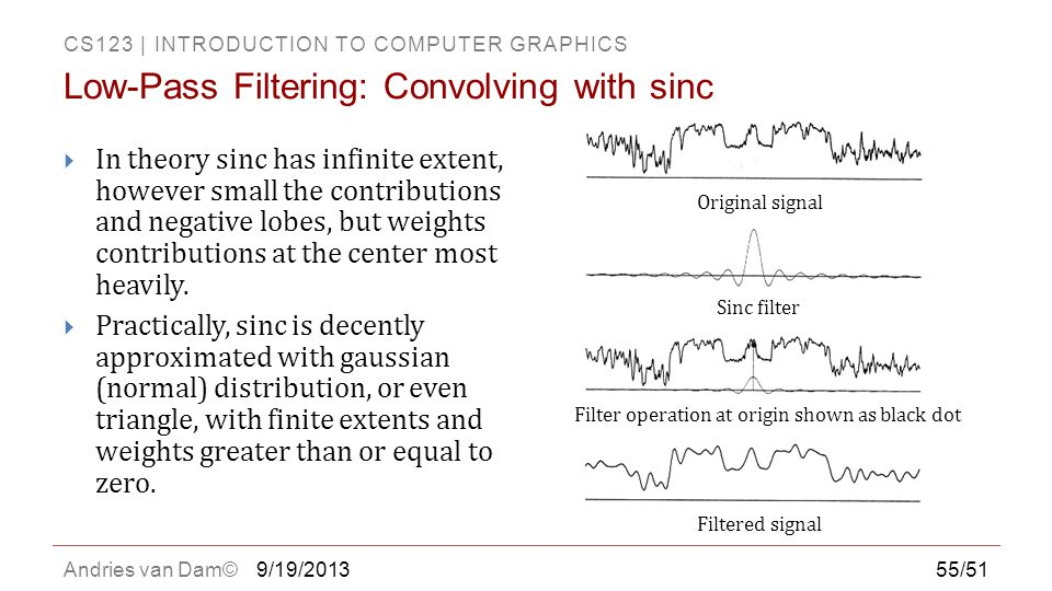 Low-Pass Filtering: Convolving with sinc