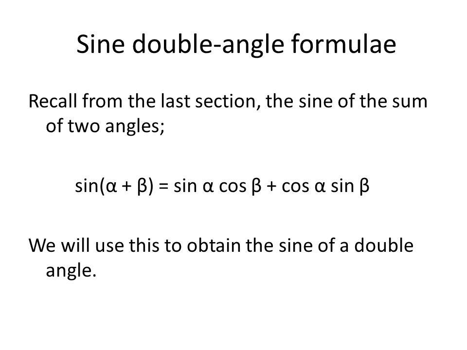 Sine double-angle formulae