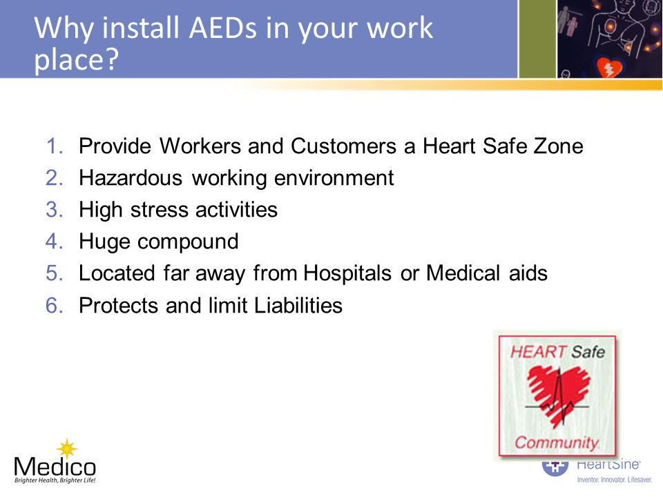 Why install AEDs in your work place