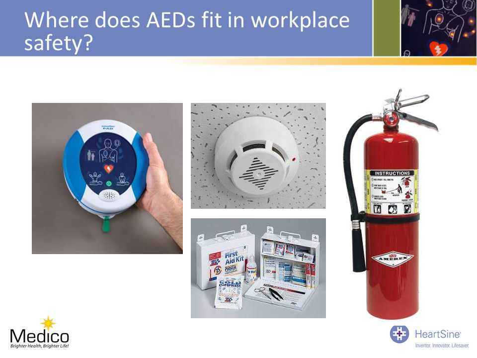 Where does AEDs fit in workplace safety