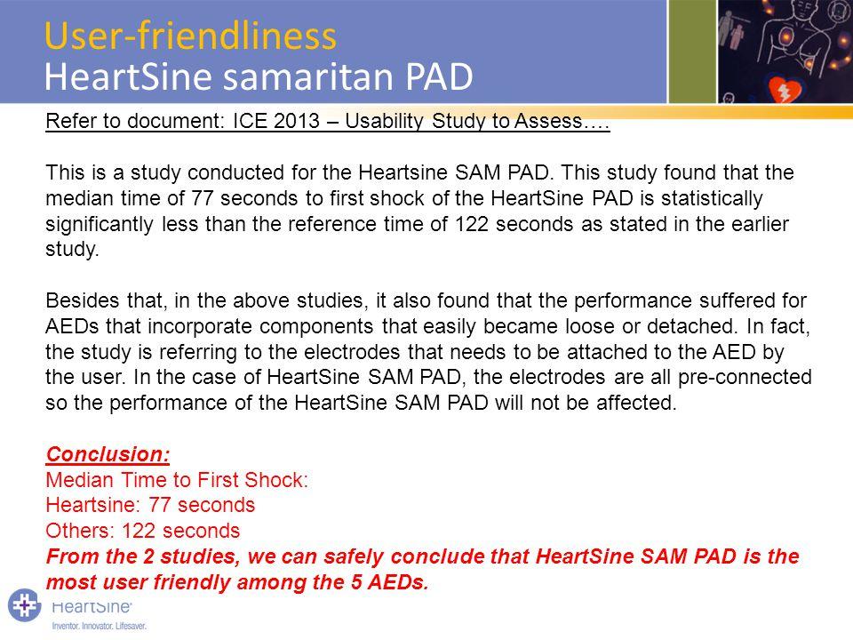 User-friendliness HeartSine samaritan PAD