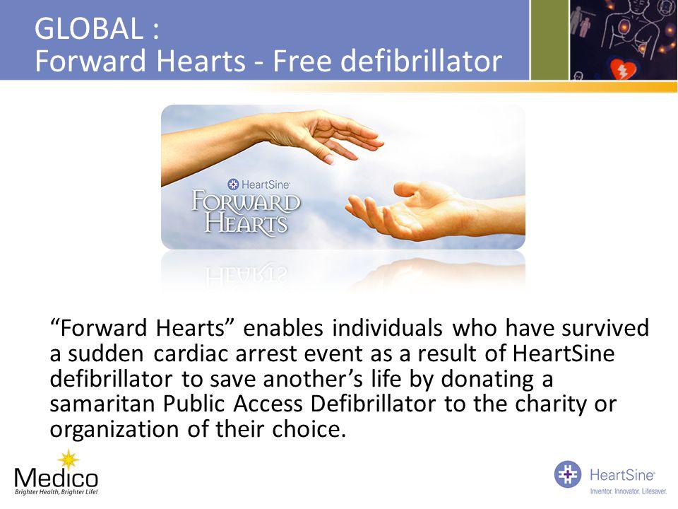 GLOBAL : Forward Hearts - Free defibrillator