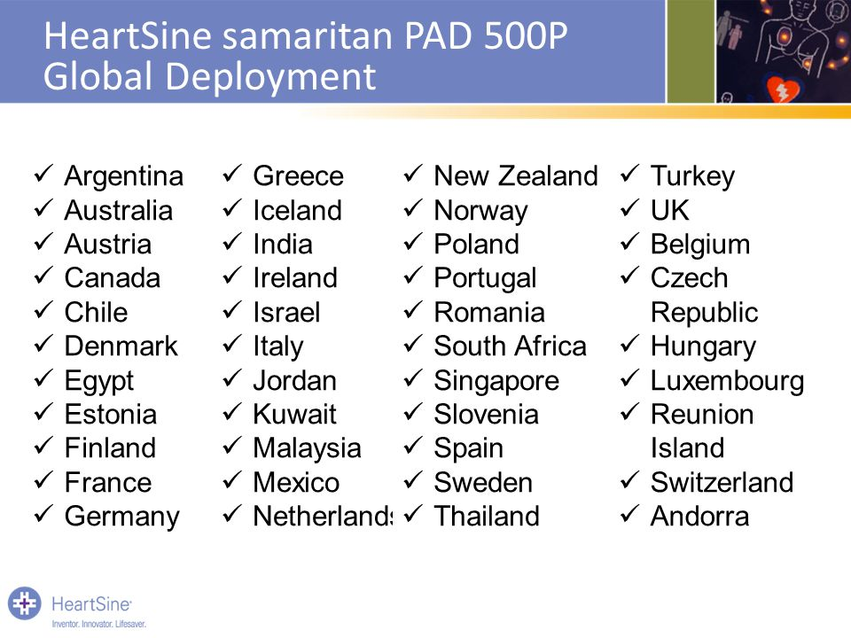 HeartSine samaritan PAD 500P Global Deployment