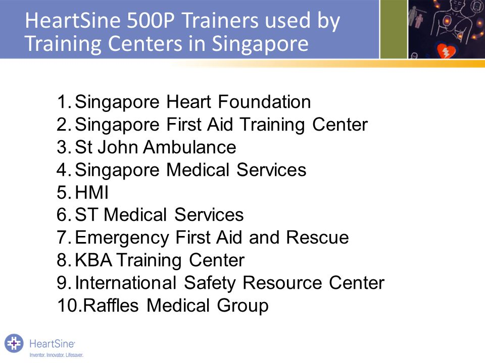 HeartSine 500P Trainers used by Training Centers in Singapore